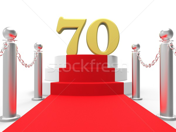 Golden Seventy On Red Carpet Shows Celebrities Remembrance And R Stock photo © stuartmiles