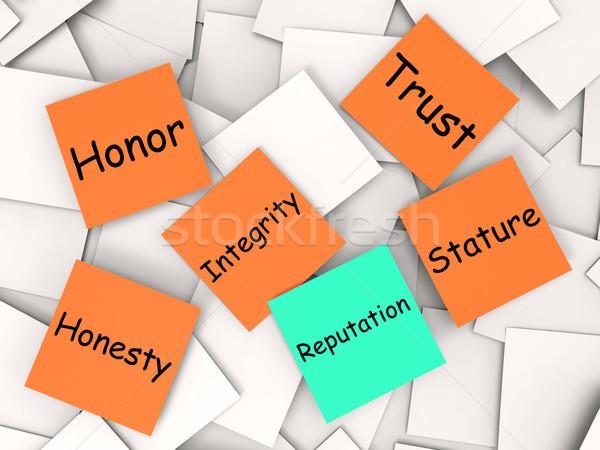 Nota credibilità significato manager gestione Foto d'archivio © stuartmiles