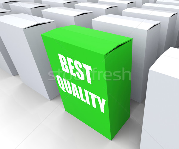 Best Quality Box Represents Premium Excellence and Superiority Stock photo © stuartmiles