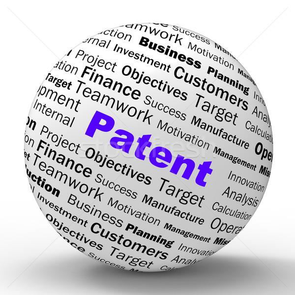 патент сфере определение защищенный изобретение правовой Сток-фото © stuartmiles