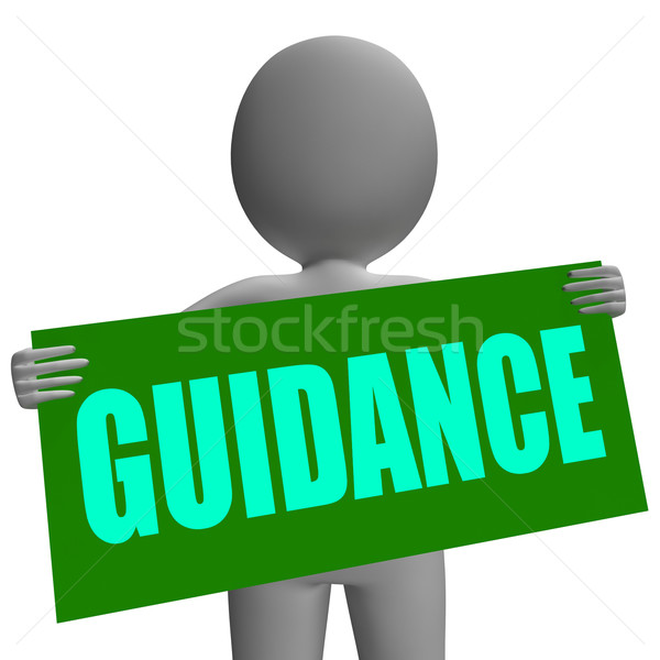 Guidance Sign Character Means Support And Assistance Stock photo © stuartmiles