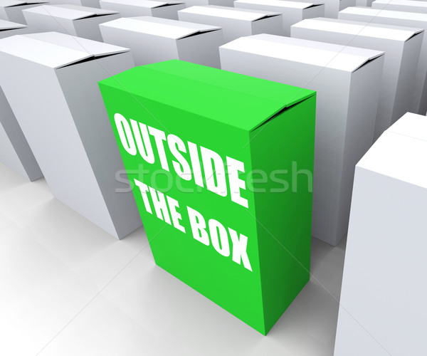 Outside the Box Means to Think Creatively and Conceptualize Stock photo © stuartmiles