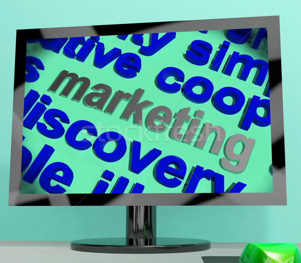 Marketing Word Shows Advertising Promoting And Selling Stock photo © stuartmiles