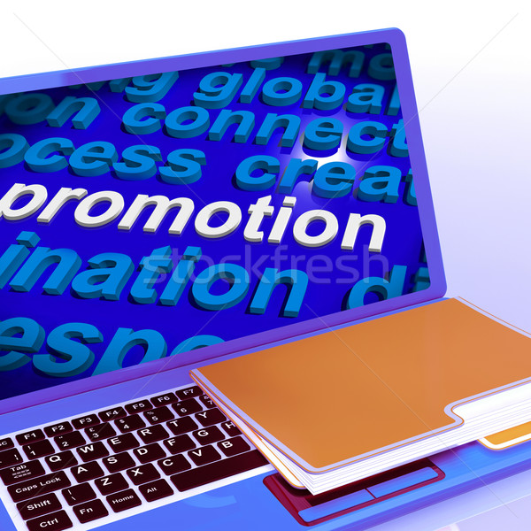 Promotion Word Cloud  Laptop Shows Discount Bargain Or Mark down Stock photo © stuartmiles