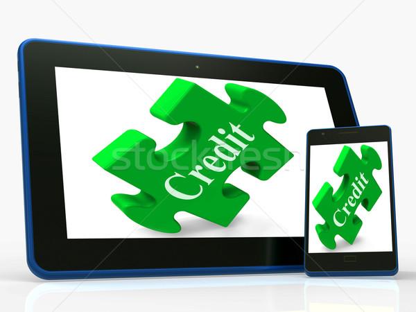 кредитных смартфон финансовых заем деньги Сток-фото © stuartmiles