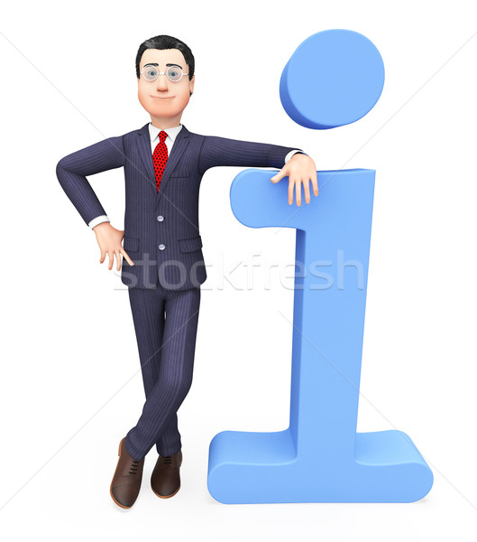 Businessman With Information Means Innovations Conception And Idea Stock photo © stuartmiles