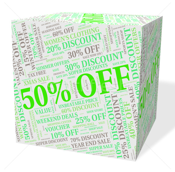 Fifty Percent Off Indicates Clearance Sale And Save Stock photo © stuartmiles