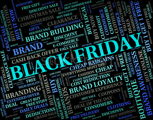Black Friday Indicates Reduction Discounts And Promotional Stock photo © stuartmiles