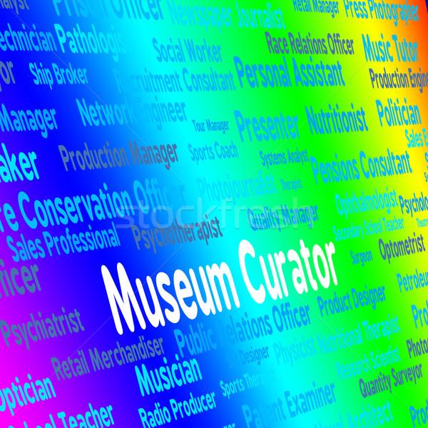 Museu ocupação recrutamento guardião posição Foto stock © stuartmiles