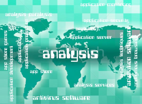 Analyse woord analytics woorden gegevens Stockfoto © stuartmiles