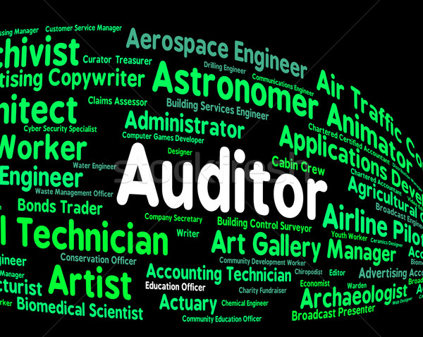 Auditor Job Represents Auditing Word And Inspectors Stock photo © stuartmiles