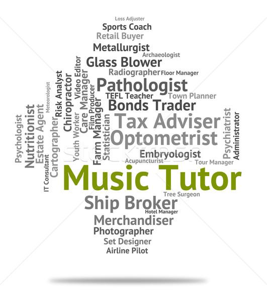 Musik Tutor Sound Länge Audio Bedeutung Stock foto © stuartmiles