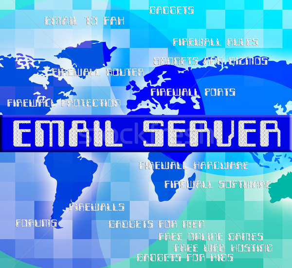 Email Server Indicates Computer Servers And Contact Stock photo © stuartmiles