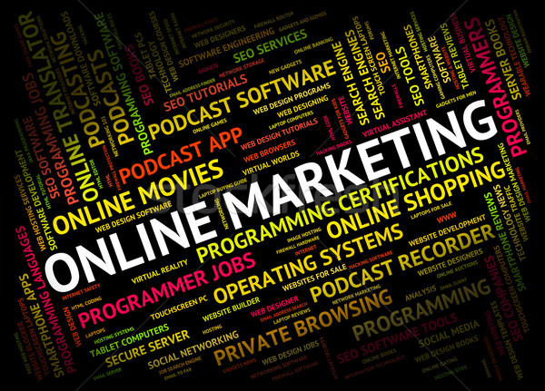 Online Marketing Shows World Wide Web And Promotion Stock photo © stuartmiles