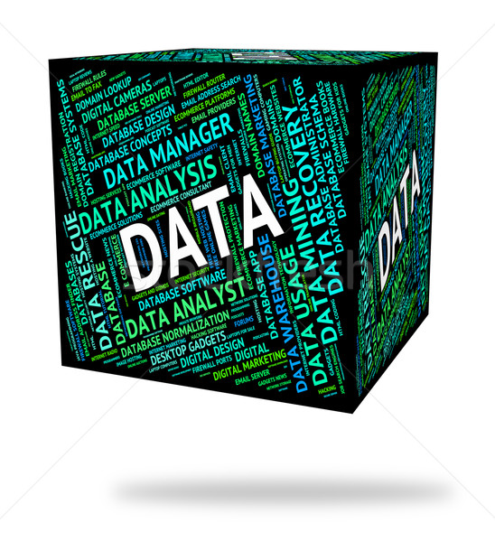 Data Word Represents Facts Words And Technology Stock photo © stuartmiles