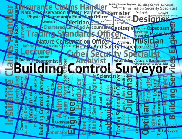 Building Control Surveyor Shows Position Employment And Surveyin Stock photo © stuartmiles