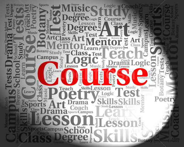 Course Word Represents Program Learned And Training Stock photo © stuartmiles