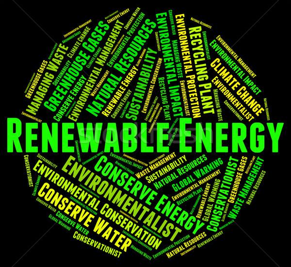 Hernieuwbare energie macht bron elektriciteit tonen Stockfoto © stuartmiles
