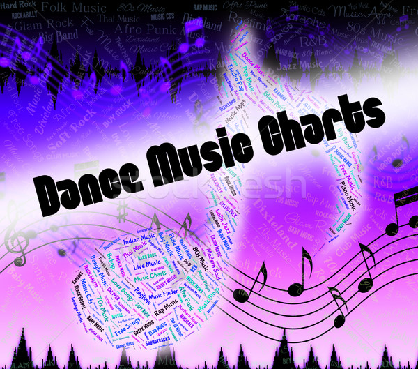 Dance Music Charts Means Sound Tracks And Disco Stock photo © stuartmiles