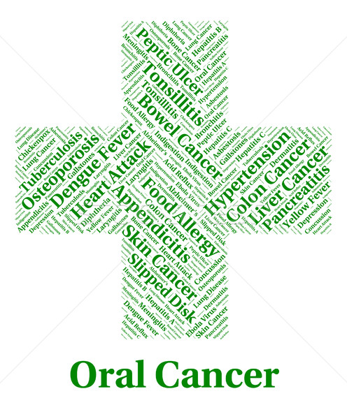 Oral Cancer Shows Poor Health And Afflictions Stock photo © stuartmiles