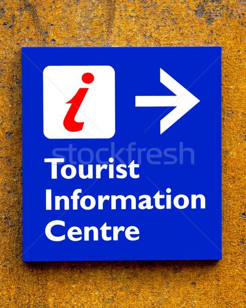 Turista információ jel fal felirat segítség szolgáltatás Stock fotó © stuartmiles