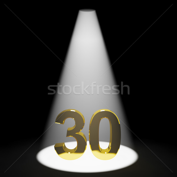 Gold 30th Or Thirty 3d Number Representing Anniversary Or Birthd Stock photo © stuartmiles