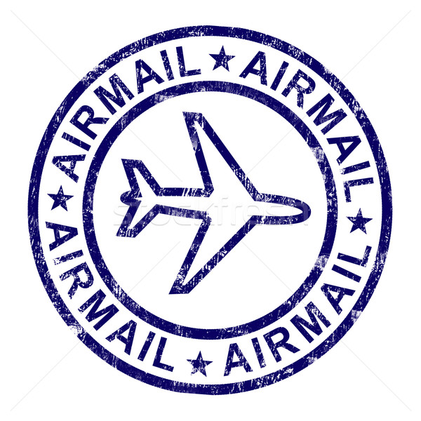 Airmail Stamp Shows International Mail Delivery Stock photo © stuartmiles