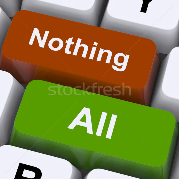 All Or Nothing Keys Mean Entire Or Zero Stock photo © stuartmiles