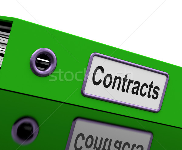 Contract File Shows Legal Business Agreements Stock photo © stuartmiles