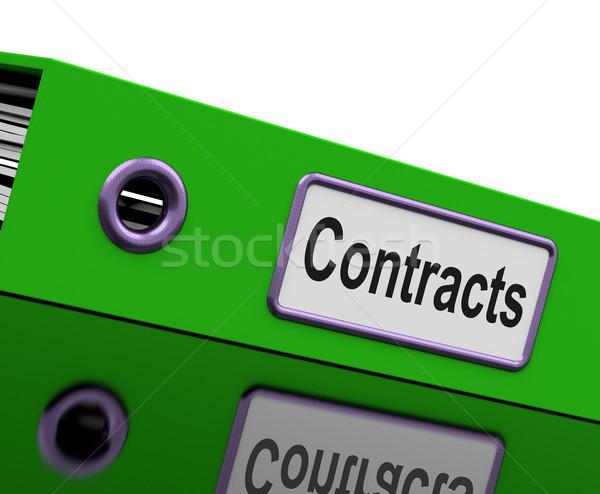 Contratto file giuridica business Foto d'archivio © stuartmiles