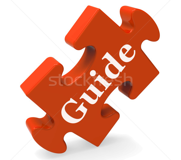 Guide Word Means Guidance Or Training Stock photo © stuartmiles