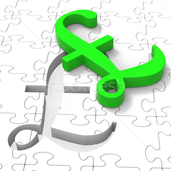 Stock fotó: Font · puzzle · mutat · Egyesült · Királyság · bankügylet · pénzügyek