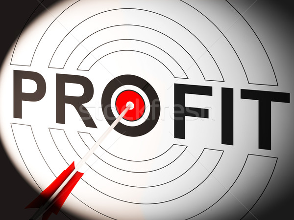 Profit Shows Lucrative Investment In Trading Market Stock photo © stuartmiles