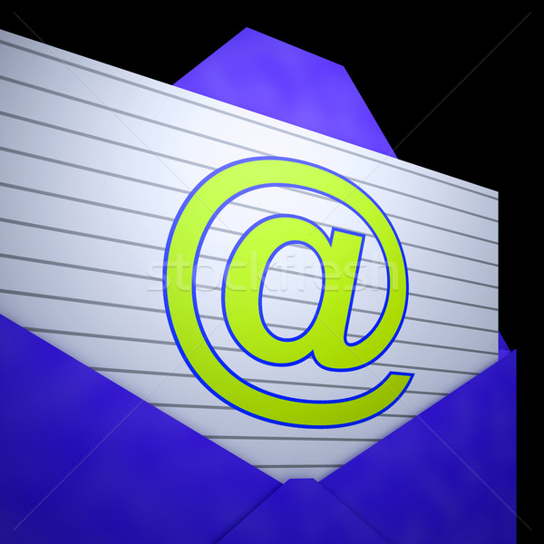 At Envelope Shows Online Mailing Inbox Support Stock photo © stuartmiles