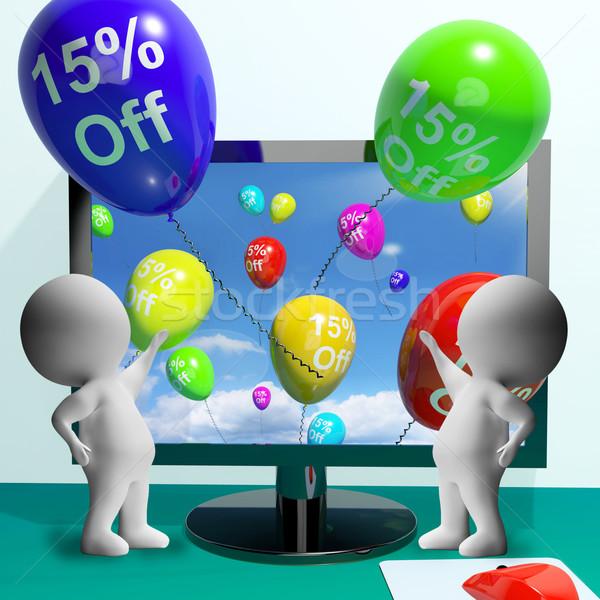 Balões computador venda desconto quinze Foto stock © stuartmiles