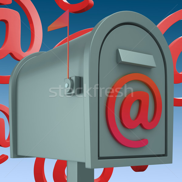 E-mail Postbox Shows Inbox And Outbox Mail Stock photo © stuartmiles