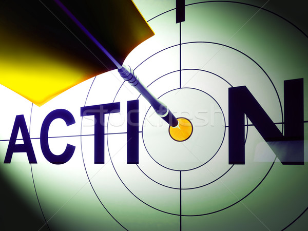 Action Shows Urgency To Succeed In Competition Stock photo © stuartmiles