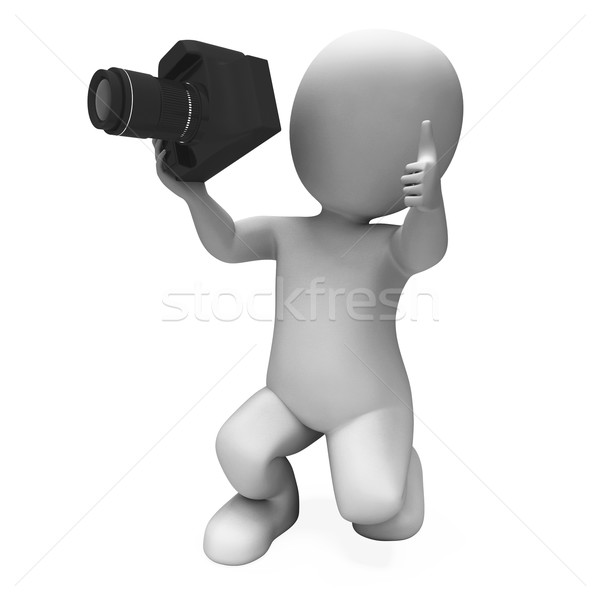 Stock photo: Photography Character Shows Photo Shoot Dslr And Photograph