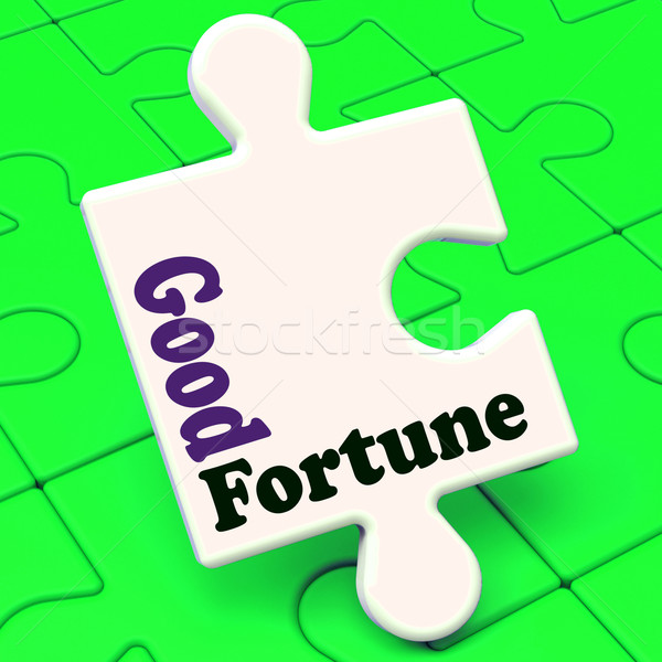Good Fortune Puzzle Shows Fortunate Winning Or Lucky  Stock photo © stuartmiles