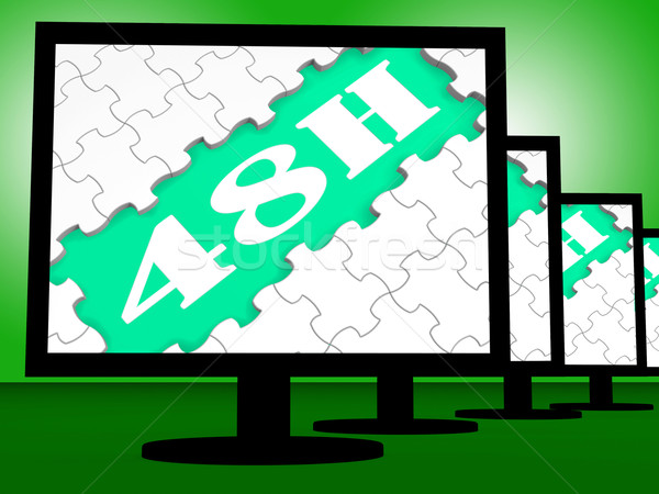 Forty Eight Hour On Monitors Shows 48h Delivery Stock photo © stuartmiles