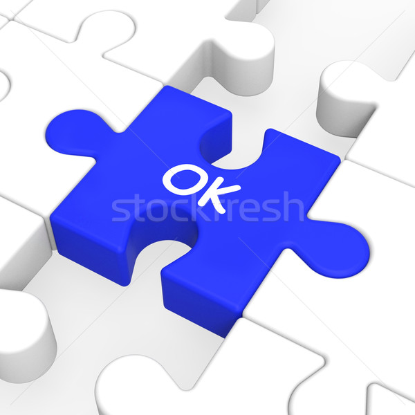 Ok Puzzle Shows Approved Correct Okay Or Passed Stock photo © stuartmiles