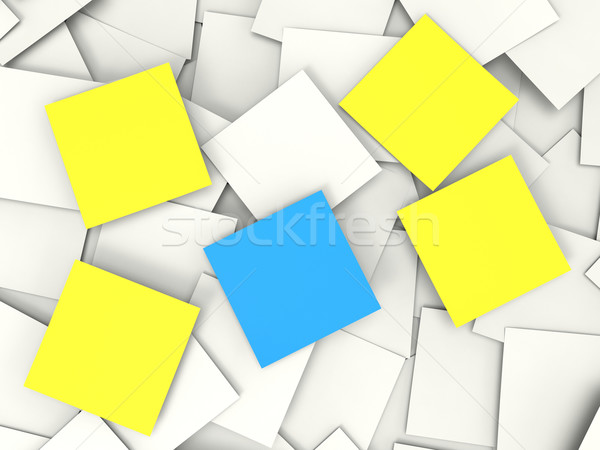 Blank Post it Messages Shows Copyspace To Do And Notices Stock photo © stuartmiles