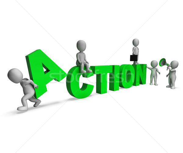 Tevékenység betűk motivált proaktív tevékenység mutat Stock fotó © stuartmiles