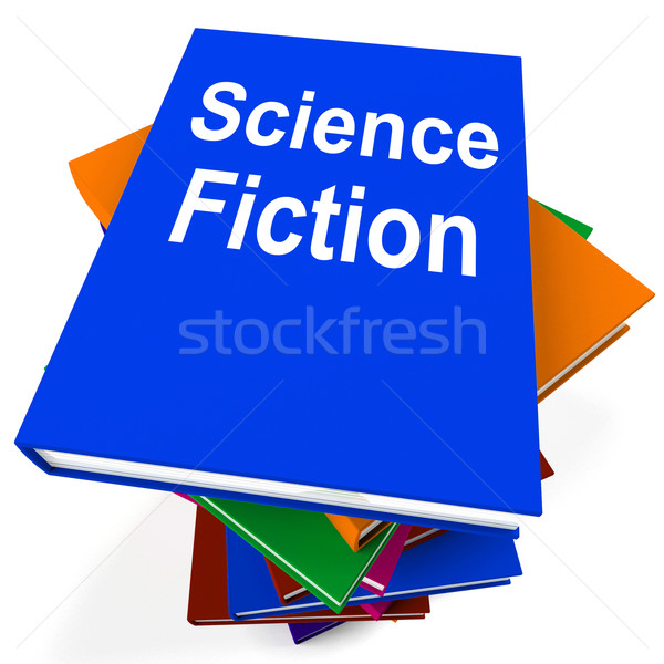 Science Fiction Book Stack Shows SciFi Books Stock photo © stuartmiles