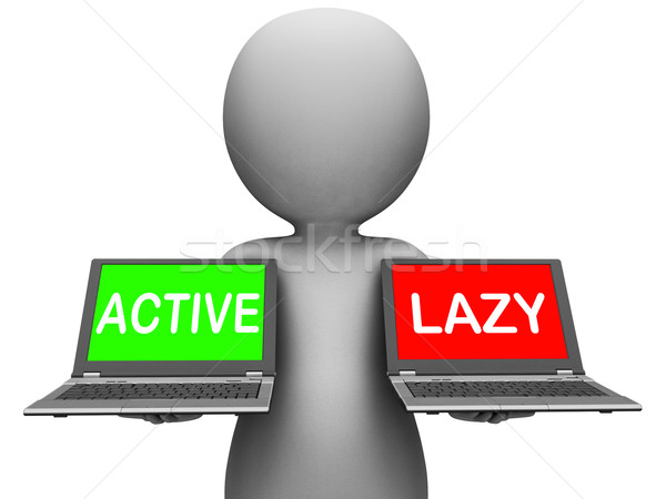 Active Lazy Laptops Show Action Or Inaction Stock photo © stuartmiles