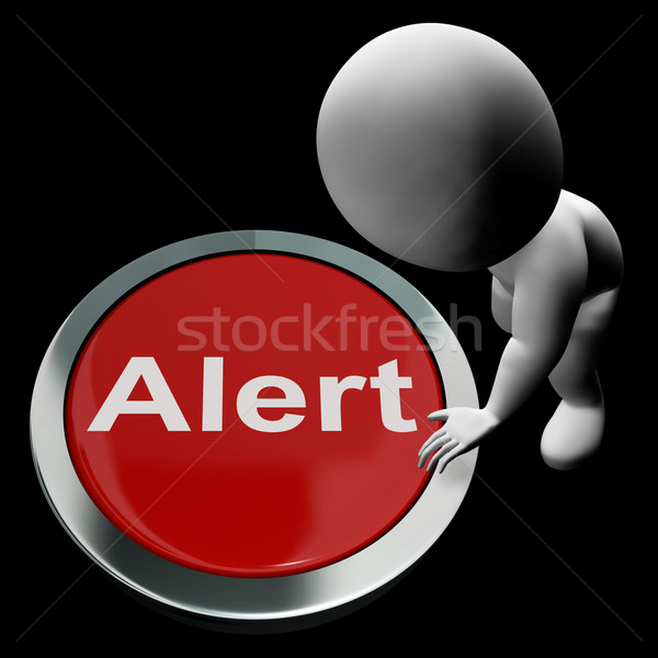 Alert Button Shows Warn Caution Or Raise Alarm Stock photo © stuartmiles