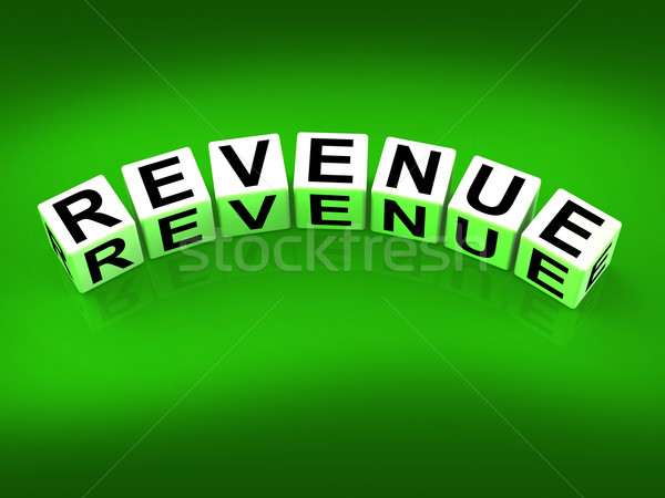 Revenue Blocks Mean Finances Revenues and Proceeds Stock photo © stuartmiles