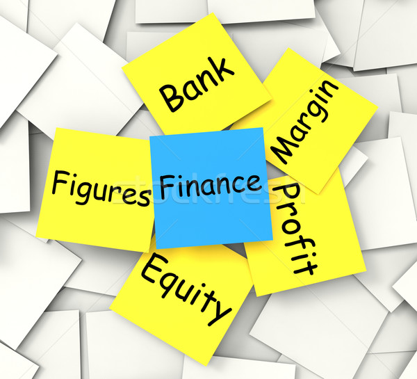 Finance Post-It Note Shows Equity Profit And Figures Stock photo © stuartmiles