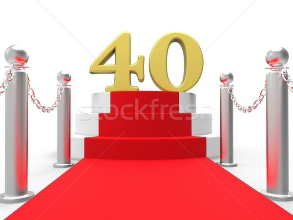 Złoty czterdzieści czerwonym dywanie rozrywki strony Zdjęcia stock © stuartmiles
