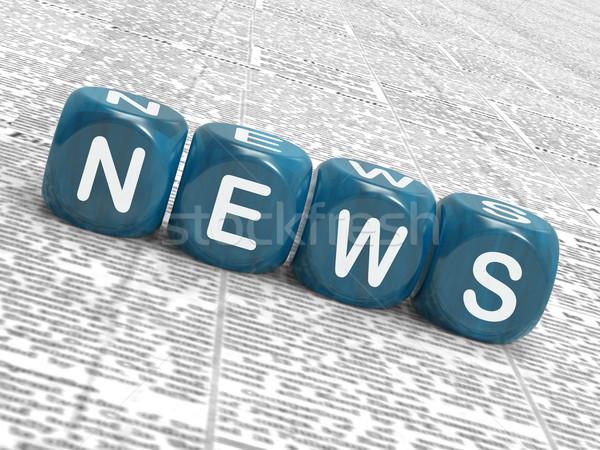 Новости Dice СМИ бюллетень смысл Сток-фото © stuartmiles